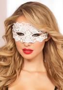 Galloon Lace Eye Mask - White - O/s