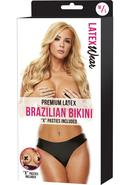 Premium Latex Brazilian Bikini-black-m/l