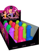 Penis Shooters Shot Glasses 12 Per Display Neon