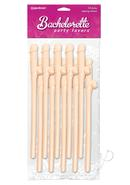 Dicky Sipping Straws 10 Pack Flesh