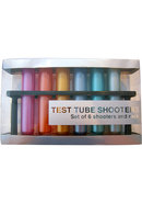 Test Tube Shooters Assorted Metallic Colors Set Of 6 Tubes...