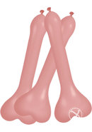 Pecker Balloons Asst 6/box Flesh