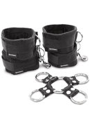5 Piece Hog Tie And Cuff Set Black