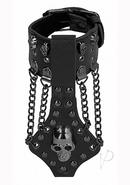 Ouch Sandb Bracelet W Skulls And Chains Blk